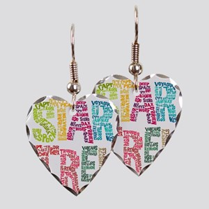 Cast Names-BLANK NO WHITE Earring Heart Charm