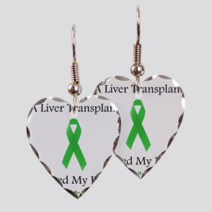 LiverTransplantSaved Earring Heart Charm