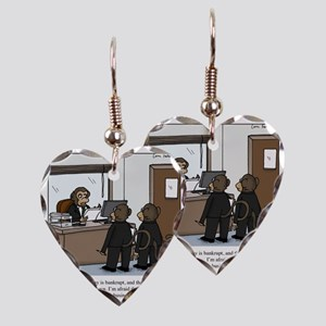 monkey business Earring Heart Charm