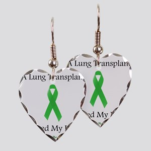 LungTransplantSaved Earring Heart Charm