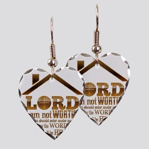 Lord I Am Not Worthy Earring Heart Charm