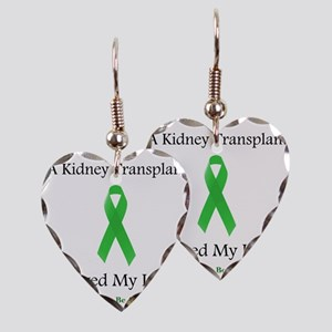 KidneyTransplantSaved Earring Heart Charm