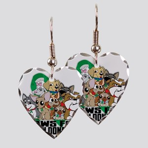 Paws for Organ Donation Earring Heart Charm
