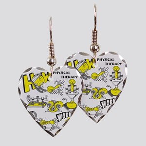 How physical therapy works Earring Heart Charm