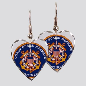 USCGR-Retired-Bonnie Earring Heart Charm