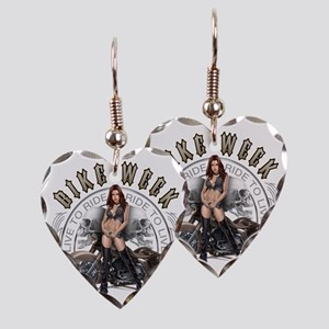 CP1010-Bike Week Chaps Babe Earring Heart Charm