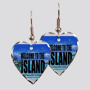 Welcome to the Island Smoke De Earring Heart Charm