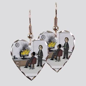 Unplug and plug back in Earring Heart Charm