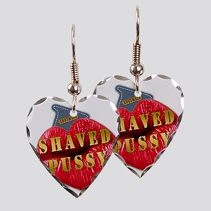 SHAVEDPUSSY---I-LOVE Earring Heart Charm