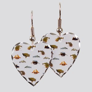 Catfish shower curtain Earring Heart Charm