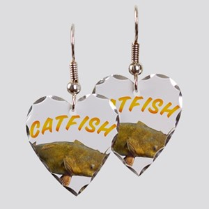 Catfish side Earring Heart Charm