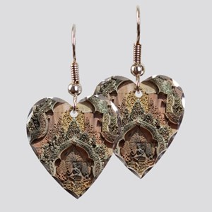 Banteay Srei Temple Chandi Earring Heart Charm