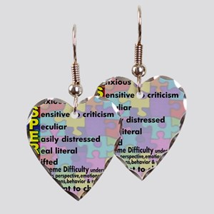 aspergers traits 3 copy Earring Heart Charm