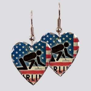 Grunge Curling Earring Heart Charm