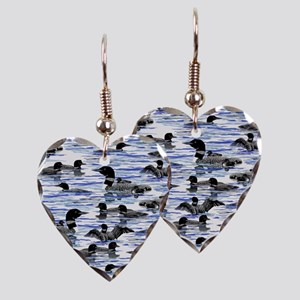 lots of Loons! Earring Heart Charm