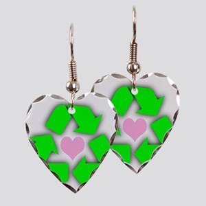 Recycled Heart Earring