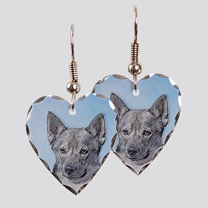 Swedish Vallhund Earring Heart Charm