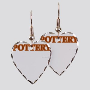 Pottery Earring Heart Charm