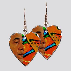 Cool Obama Earring Heart Charm
