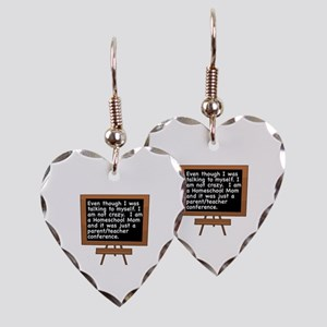 TALKING TO MYSELF/HOMESCHOOL M Earring Heart Charm