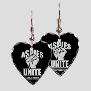 Aspies Unite Earring Heart Charm