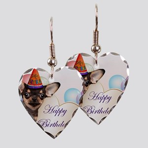 Happy Birthday Chihuahua dog Earring