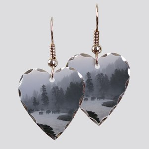 Bison Crossing Earring Heart Charm