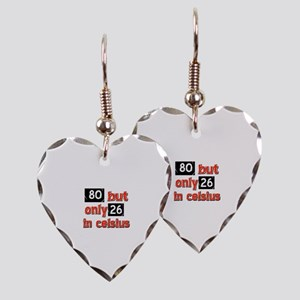 80 year old designs Earring Heart Charm