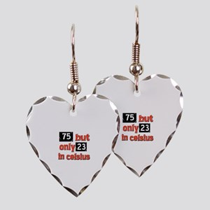 75 year old designs Earring Heart Charm