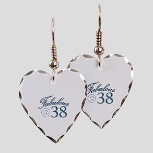 Fabulous at 38 Earring Heart Charm