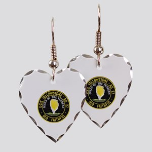 uss yellowstone ad 27 patch Earring Heart Charm