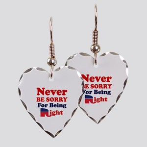 REPUBLICAN - NEVER BE SORRY FO Earring Heart Charm