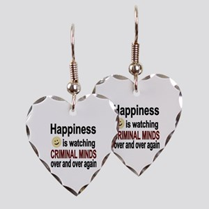 Happiness is watching CRIMINAL Earring Heart Charm