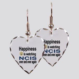 Happiness is Watching NCIS Earring Heart Charm