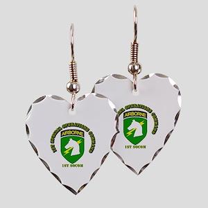 SOF - 1st SOCOM Earring Heart Charm