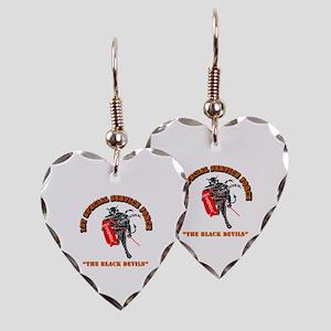 SOF - 1st SSF - Black Devils Earring Heart Charm
