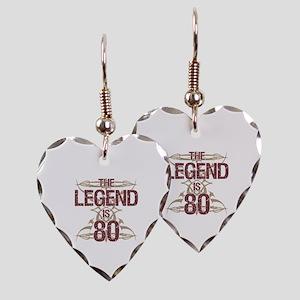 Men's Funny 80th Birthday Earring Heart Charm