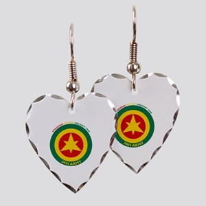 Ethiopian Military Aircraft In Earring Heart Charm