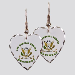 SOF - 1st SF Regiment Earring Heart Charm