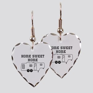 Home Sweet Home Fifth Wheel Earring Heart Charm