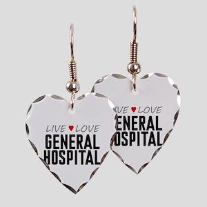 Live Love General Hospital Earring Heart Charm