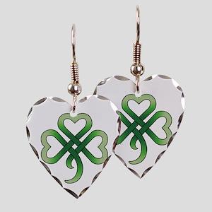 Celtic Clover Earring Heart Charm