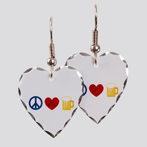 Peace Love Beer Earring