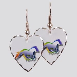 Running Earring Heart Charm