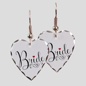 Elegant Bride Earring Heart Charm