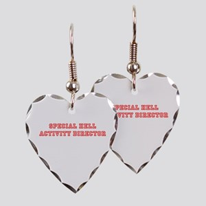 Special Hell Activity Director Earring Heart Charm