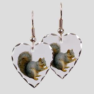 Peace Squirrel Earring Heart Charm