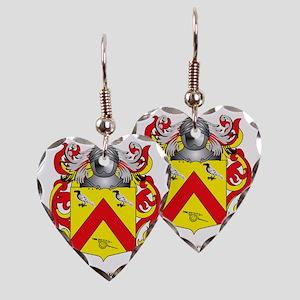 Tonkin Family Crest (Coat of A Earring Heart Charm