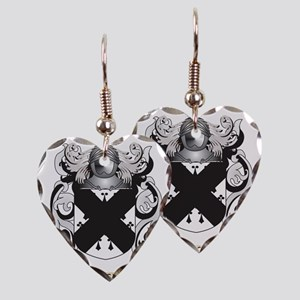 cargill Coat of Arms Earring Heart Charm
