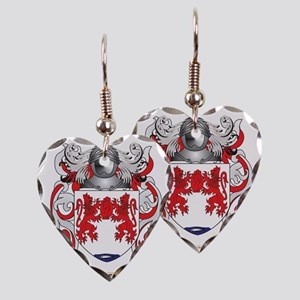 Donnelly Coat of Arms Earring Heart Charm